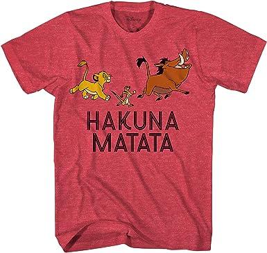 Disney Lion King Simba Timon Pumba Hakuna MATA Walk Adult Disneyland Men's T Shirt