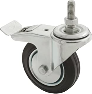 Gray Steelex D2584 5-Inch 220-Pound Fixed Rubber Plate Caster