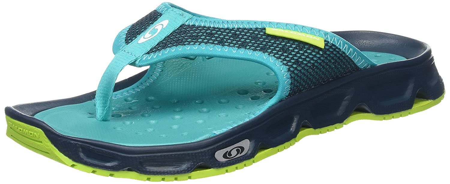 Salomon Women's RX Break Sandal B01N6J1W3C 8.5 B(M) US|Reflecting Pond/Deep Peacock Blue/Lime Green