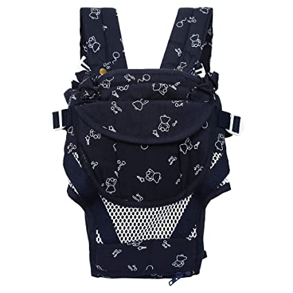 d8370b4cad5 Buy WONDERKART Chuan-Que Baby Carrier 6 In 1 - Navy Blue Online at Low Prices  in India - Amazon.in