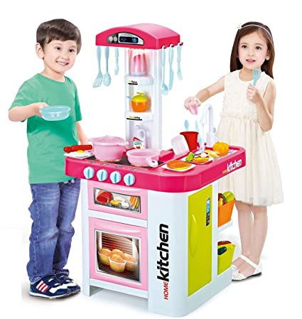 Amazon Com Childrens Toy Electronic Kitchen Set With Working Water