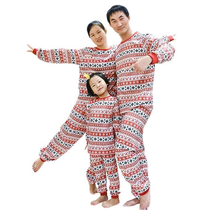103bcb3a89 BOZEVON Famiglia Pigiama Natale Set - Bambini Ragazzi Ragazze Natale  Pigiameria papà Mamma Coppie Camicie da