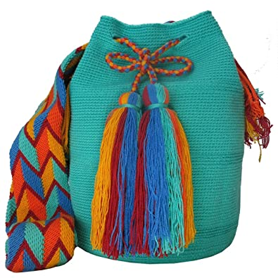 Amazon.com: Across The Puddle, Wayuu Bags and Hats Collection, Authentic Large Wayuu Mochila Bag MW-0199: Shoes