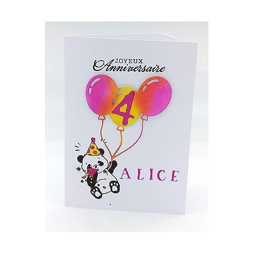 Carte Personnalisee Anniversaire Carte Anniversaire Fille 6 Ans Carte Anniversaire Enfant 8 Ans Carte Papier Anniversaire Carte Anniversaire Petite Fille 2 Ans Carte Anniversaire 7 Ans Fille Amazon Fr Handmade