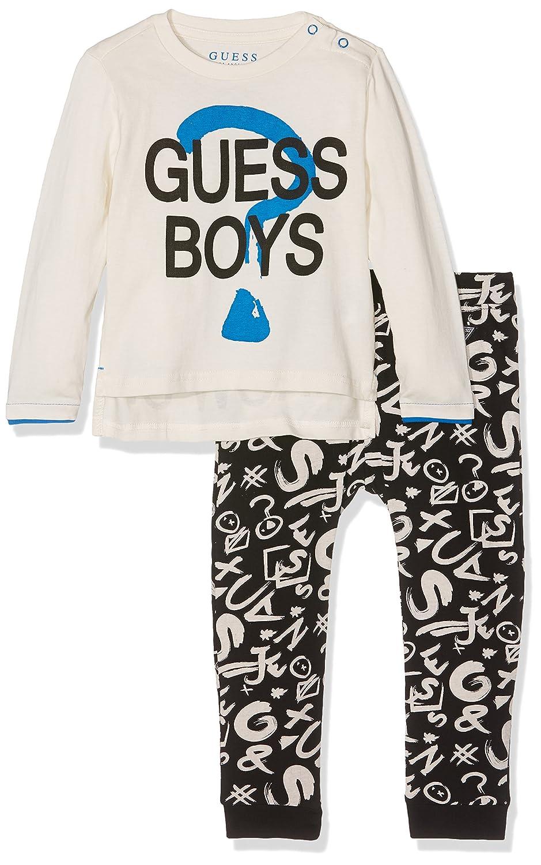 nuovo stile ee1ec 611dc Guess Baby Boys' Set: LS T-Shirt/Pants Tracksuit, (True ...
