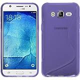 PhoneNatic Custodia Samsung Galaxy J5 (2015 - J500) Cover porpora S-Style Galaxy J5 (2015 - J500) in silicone + pellicola protettiva