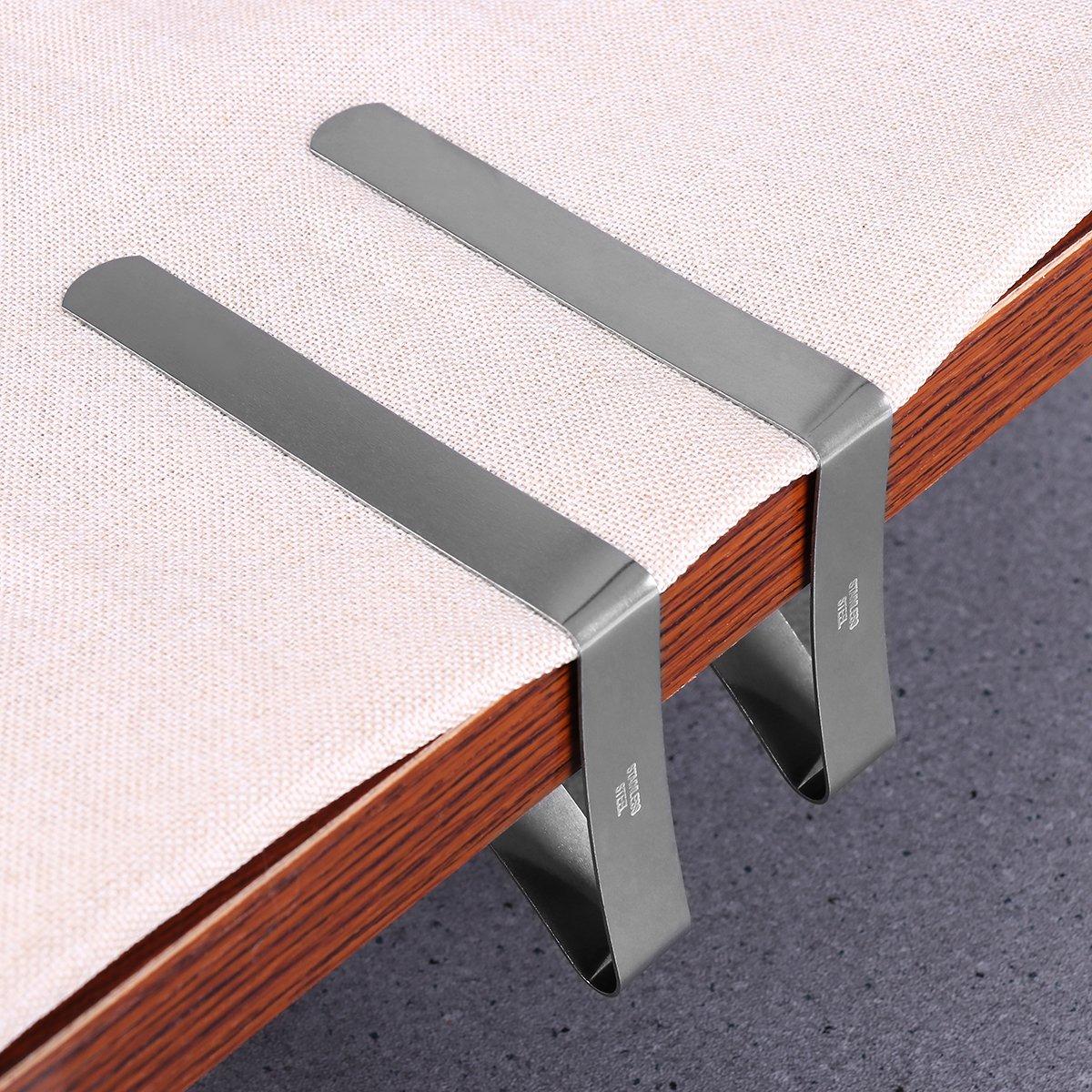OUNONA 20 st/ücke Tischtuchklammern Edelstahl Klammern f/ür Tischdecken