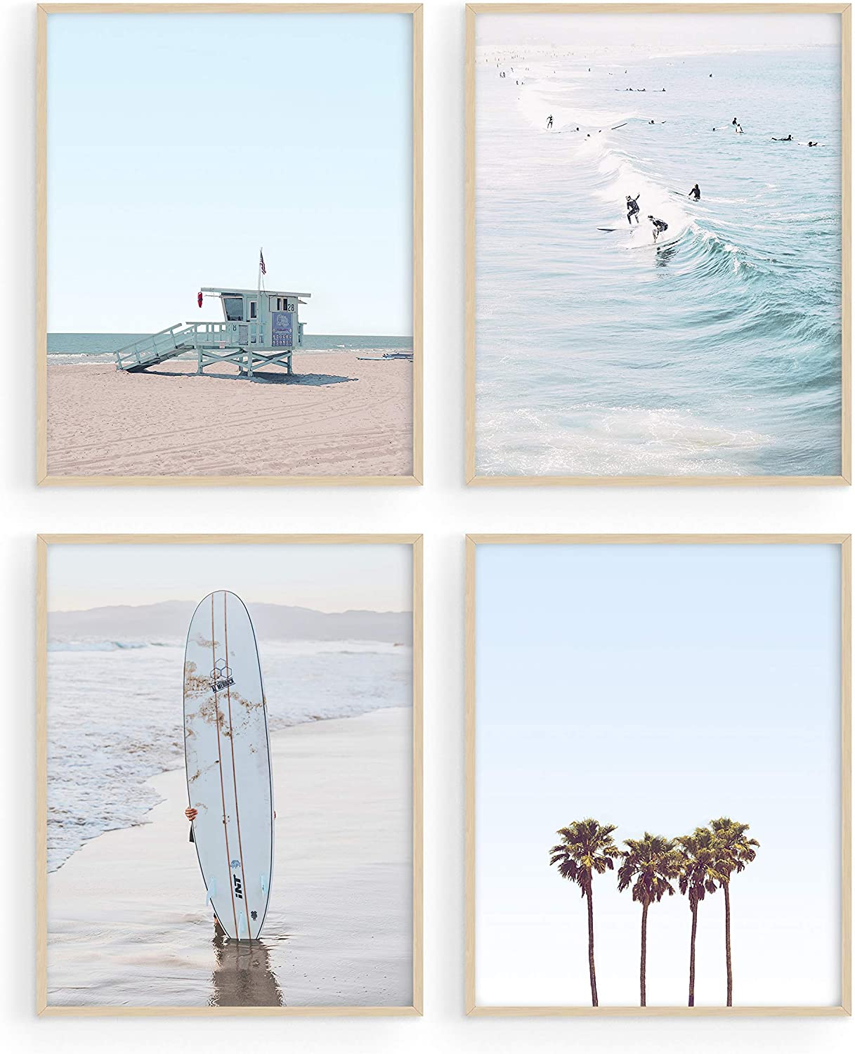 "Haus and Hues Beach Wall Art Prints - Set of 4 Ocean Beach Decor Art Prints | Nautical Themed Beach Wall Decor and Decorations for Home Beach Art Prints Beach Decor for Bedroom (8""x10"", UNFRAMED)"