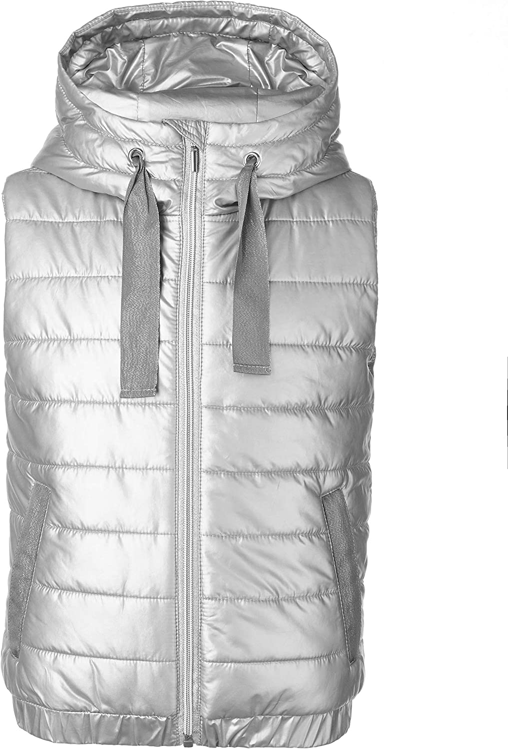 Hooded Colour Silver Plain Drawsting Warm Waterproof Polyester for 8-13 Years Sleeveless GULLIVER Teen Girls Quilted Vest//Gilet Zipped Casual Sport Regular Fit