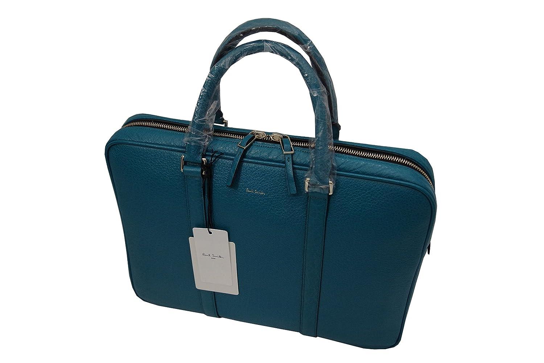 ポールスミス PaulSmith 高級 本革 ビジネスバッグ ターコイズ F68535 新品正規品 B078J5S57N