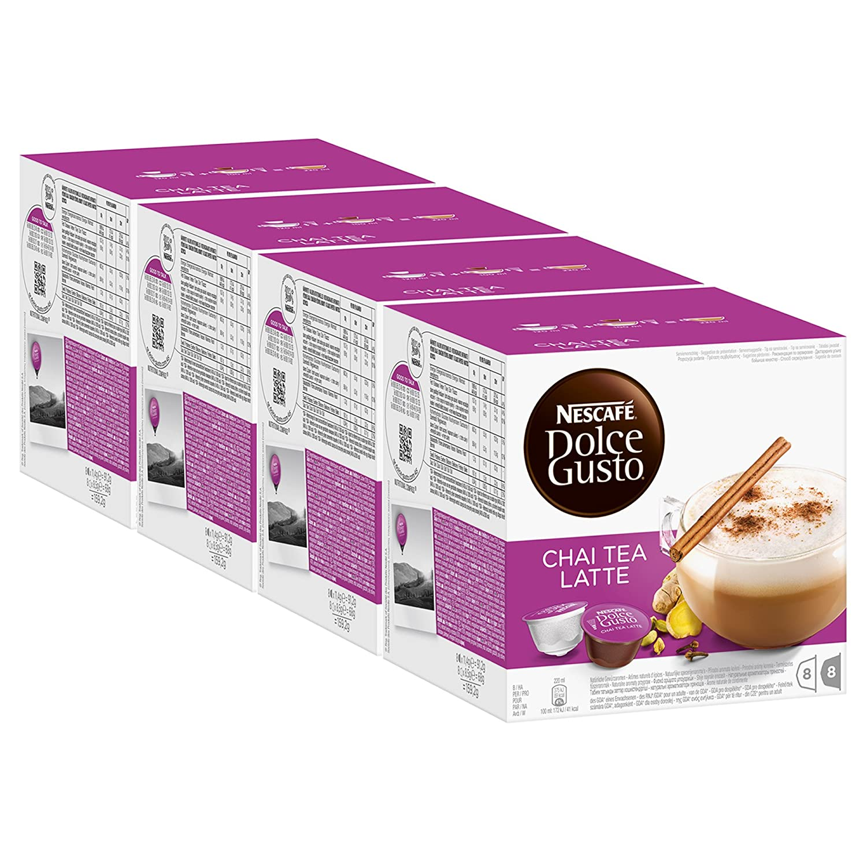 Nescafé Dolce Gusto Chai Tea Latte, Paquete de 4, 4 x 16 Cápsulas ...