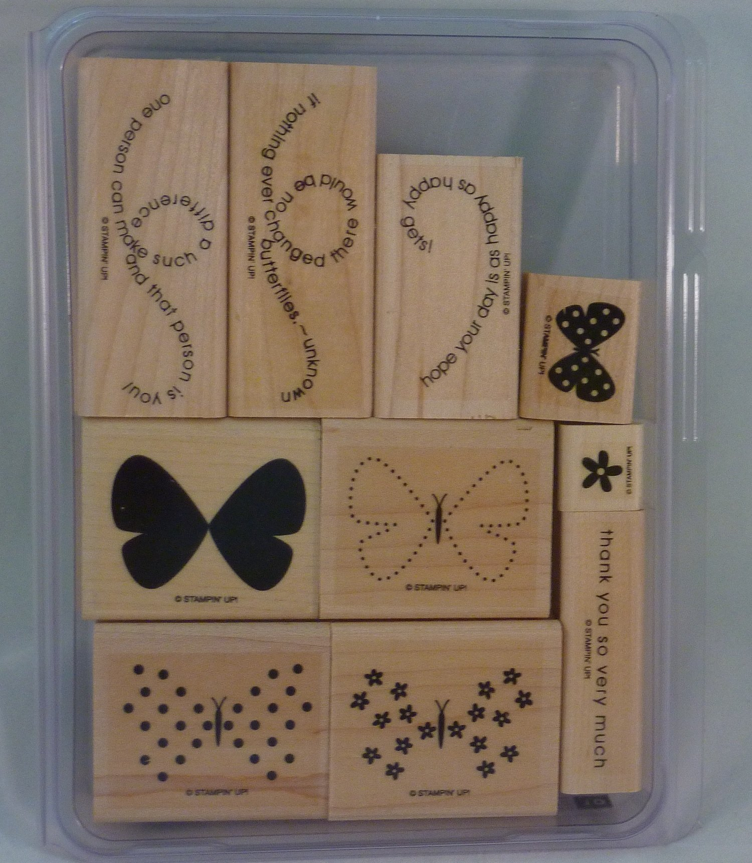 Stampin' Up! FLIGHT OF THE BUTTERFLY Set of 10 Decorative Rubber Stamps Retired