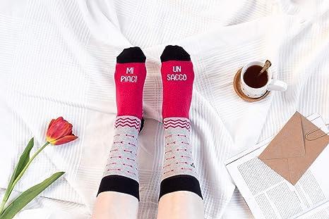 """UO""""Me piaci Un saco de calcetines, Algodón, Rojo, ..."""