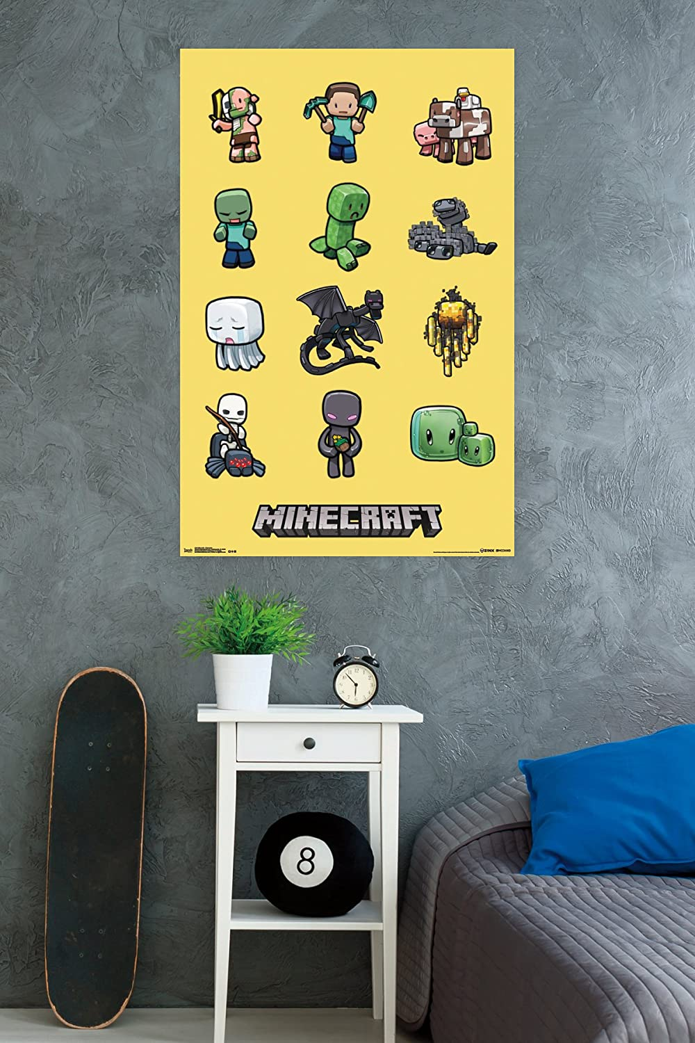 Amazon.com: Trends International Minecraft Characters Wall Poster ...