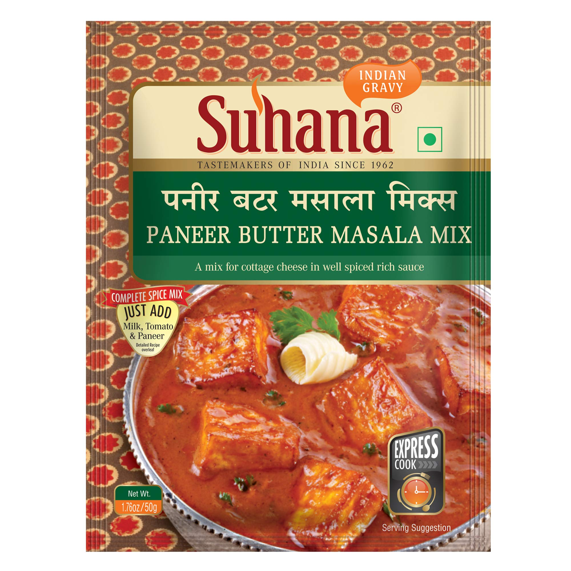 Suhana Paneer Butter Masala 50g Pouch | Spice Mix | Easy to Cook | Pack of 3