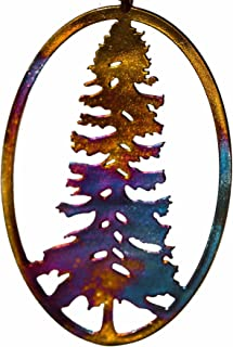 product image for From War to Peace California Redwood Iridescent Pendant Necklace on Adjustable Natural Fiber Cord