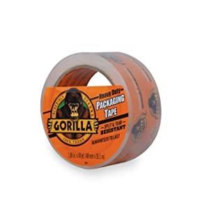 "Gorilla Heavy Duty Large Core Packing Tape for Moving, Shipping and Storage, 1.88"" x 40 yd, Clear, (Pack of 1)"
