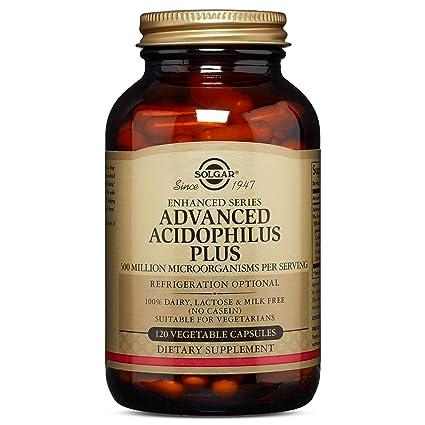 Solgar Acidophilus Plus Avanzado Cápsulas vegetales - Envase de 120