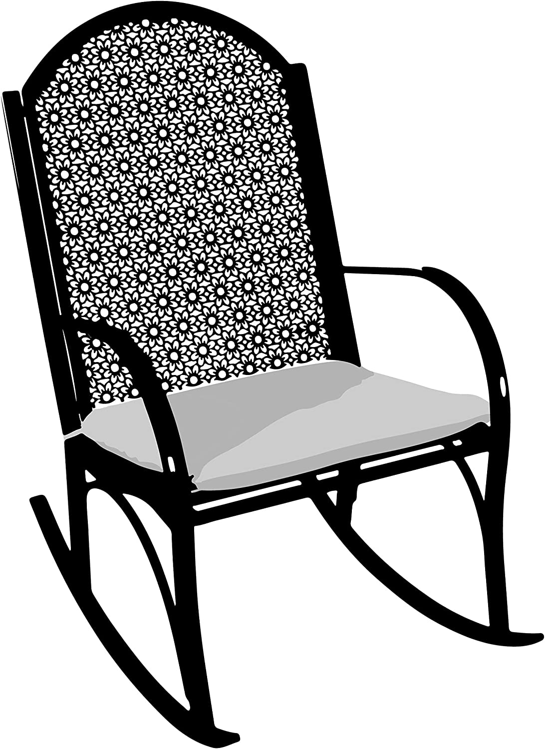 Tortuga Sturdy Coated Metal Garden Outdoor Rocking Chair