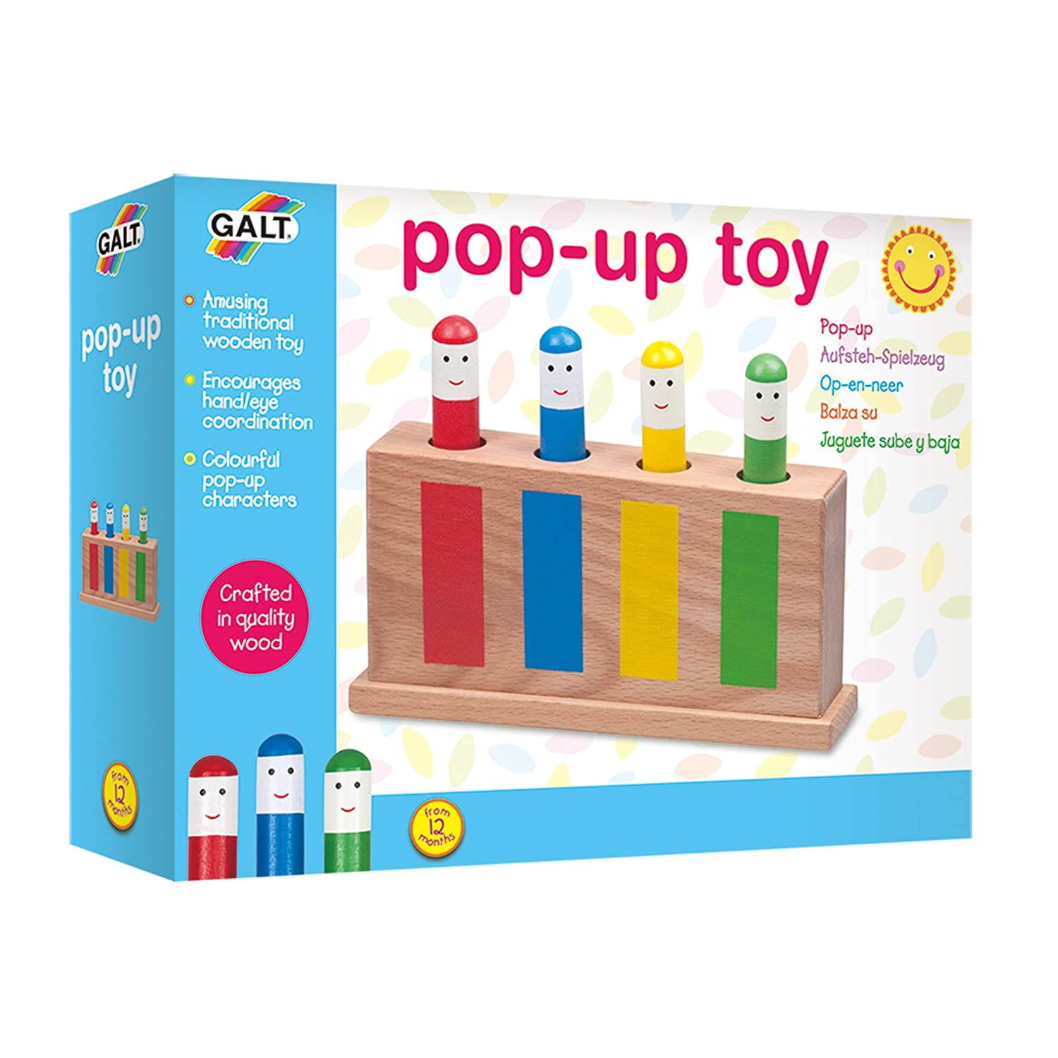 Amazon Galt Toys Wooden Retro Pop Up Toy Toys & Games