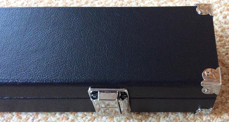 Resistente Negro caja del cue 2 pieza, con las esquinas reforzadas .Foam acolchado y compartimiento de tiza ... SGL