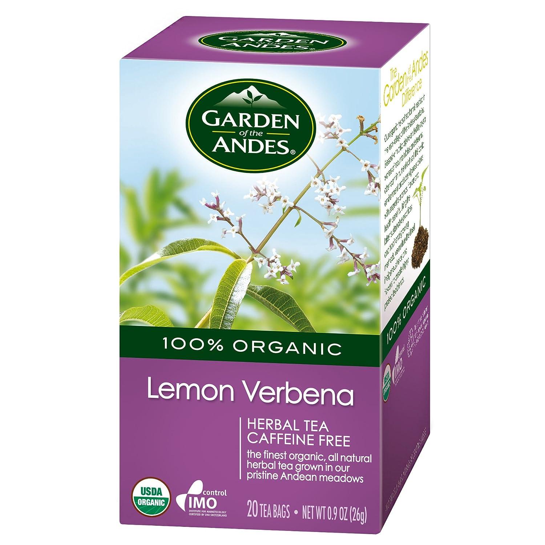 Garden of the Andes Lemon Verbena Organic Tea, 0.9 oz, 20 Count (Pack of 6)