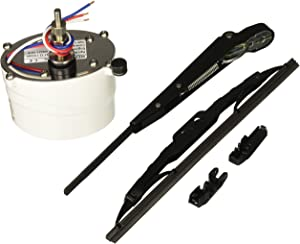 """Wexco 1.5"""" Shaft Marine Windshield Wiper Kit - Wiper Arm, Blade and Motor 12V, 110 Degree Sweep. Car Automotive Accessory"""
