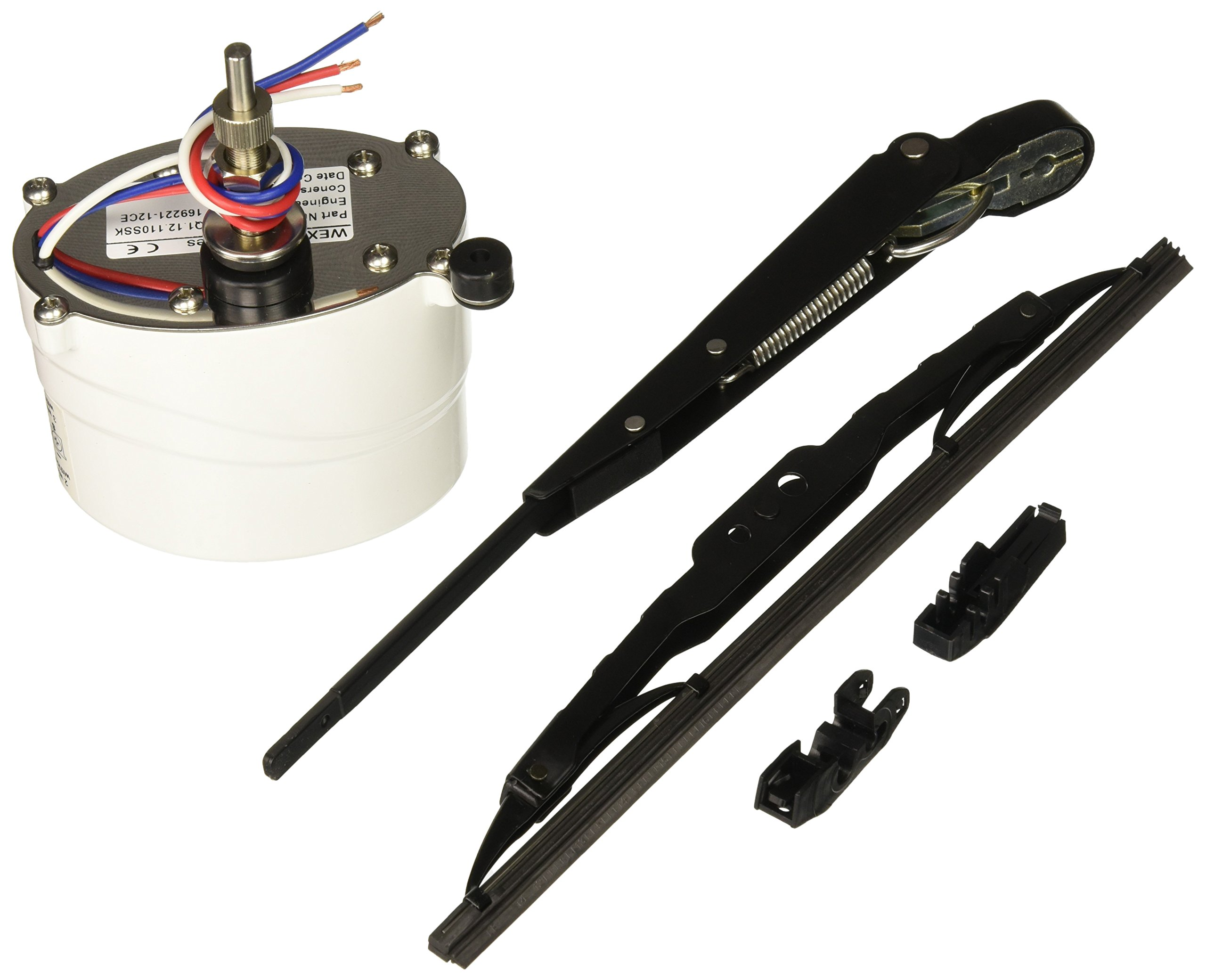 Wexco 1.5'' Shaft Marine Windshield Wiper Kit - Wiper Arm, Blade and Motor 12V, 110 Degree Sweep. Car Automotive Accessory by AutoTex