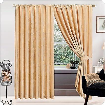 Supremo ropa de cama lujo ventana tratamiento plisado/cortina grifo Ideal para salas de estar
