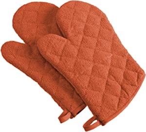 DII 100% Cotton Terry Oven Mitt Set, Ovenmitt, Spice, 2 Piece