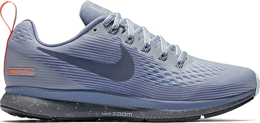 Nike Women's Air Zoom Pegasus 34 Running Shield Shoe Wolf Grey/Thunder  Blue-Dark Sky Blue 6.0