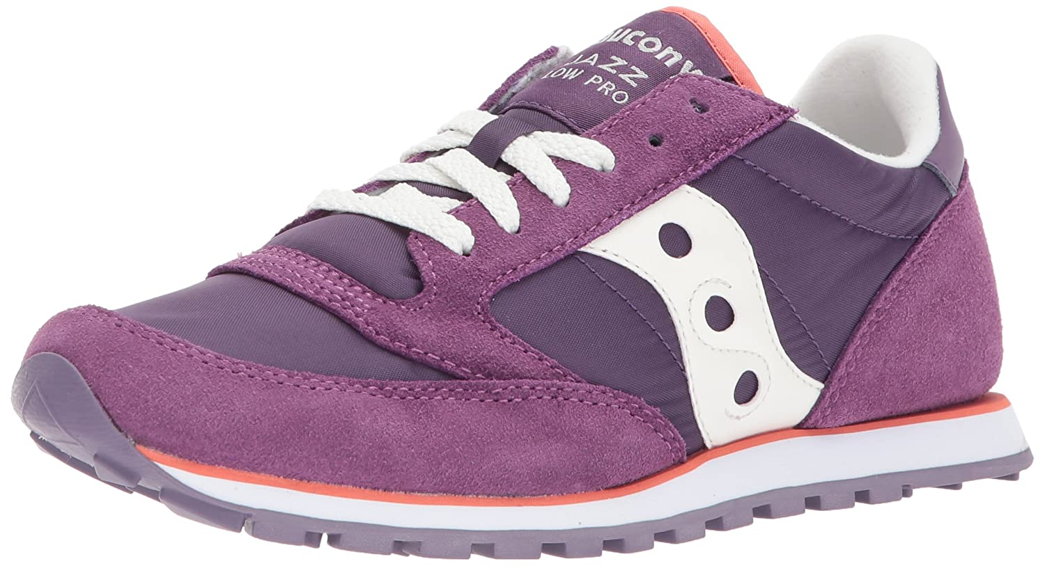 Purple  White Saucony Originals Women's Jazz Lowpro Sneakers