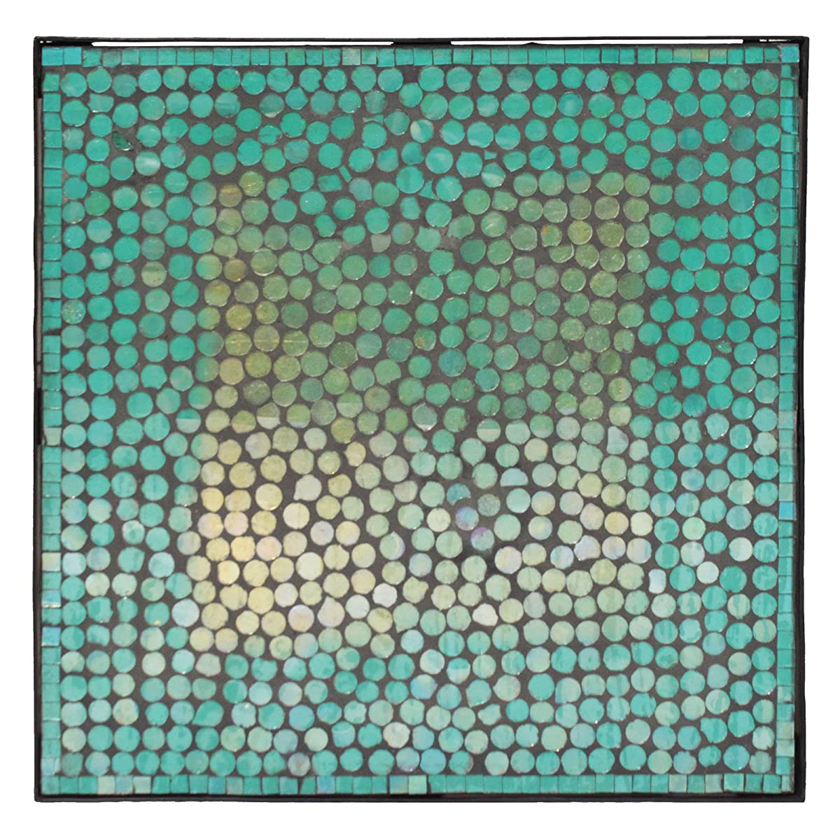 Urban Designs Mosaic Turquoise Square Accent Table