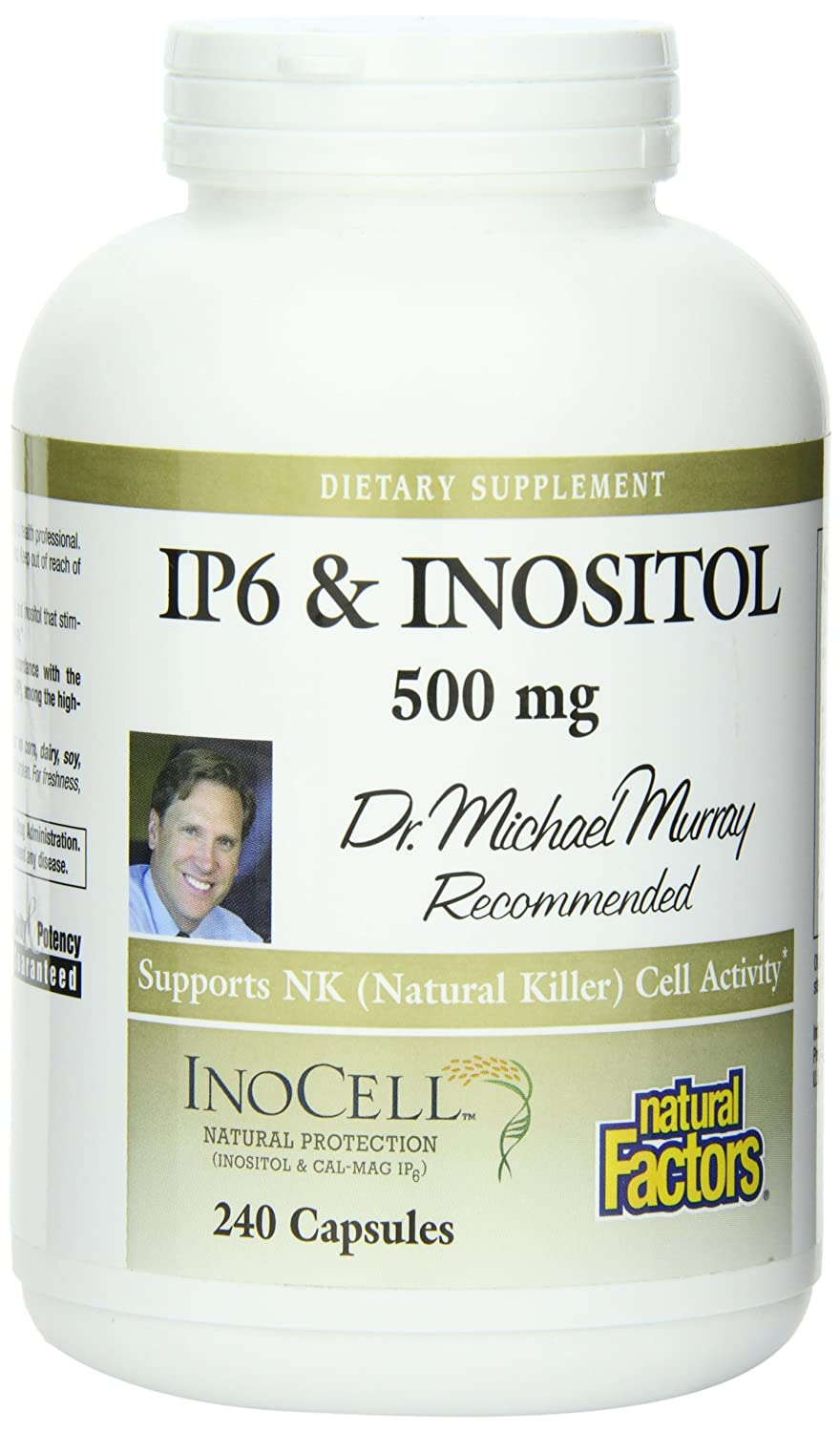 Buy Natural Factors, IP6 & Inositol, 500 mg, 240 Capsules