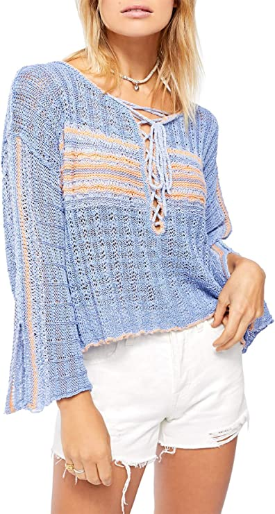 Summer sweater for women women/'s hoodie from light eco-jersey marine mottled with blue apples body accented cut with hood