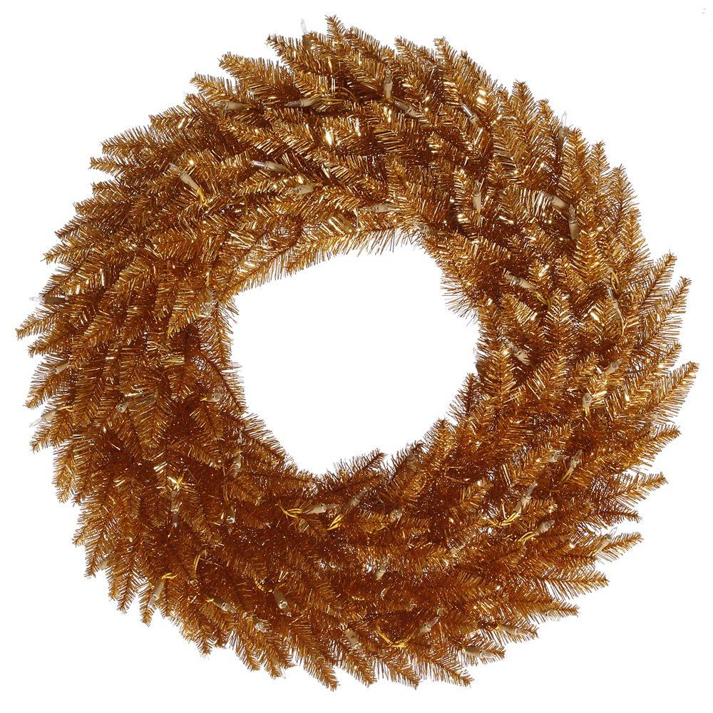 Vickerman Copper Tinsel Fir Wreath K167231LED