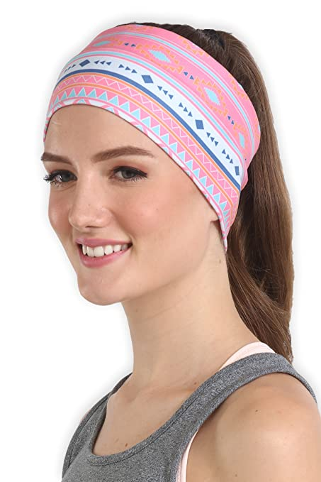 Amazon.com  Workout Headband for Women   Men - Wide 25dee1b38f0