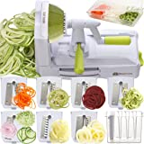 Brieftons 7-Blade Spiralizer: Strongest-and-Heaviest Duty Vegetable Spiral Slicer, Best Veggie Pasta Spaghetti Maker for…