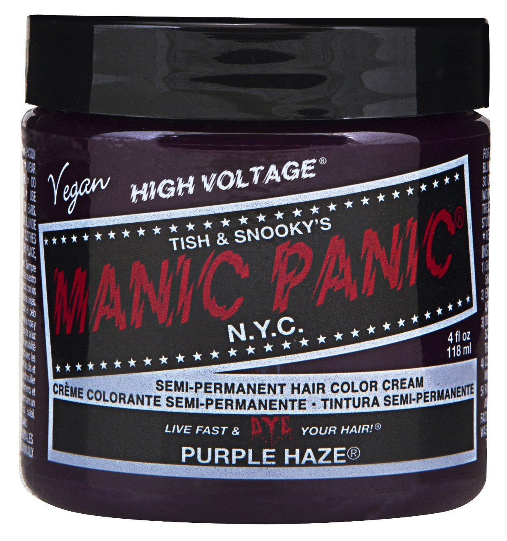 Manic Panic Semi-Permament Haircolor Purple Haze 4oz Jar (2 Pack)