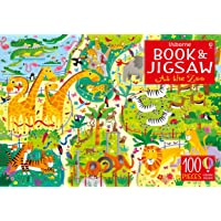 Usborne Book And Jigsaw: At the Zoo