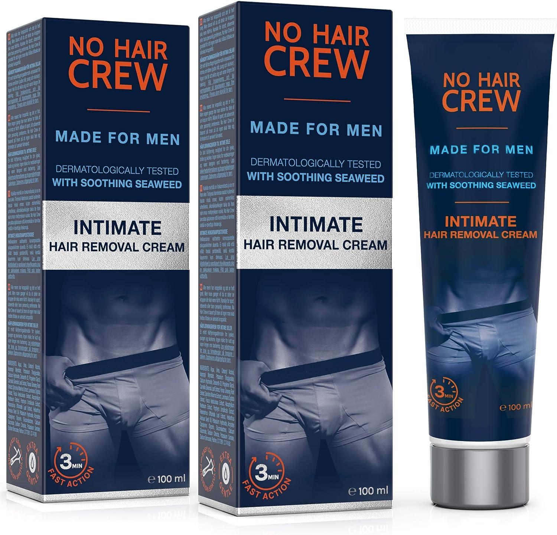 2 x NO HAIR CREW Crema Depilatoria Íntima Premium - Extra Suave ...