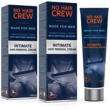 HommesExtra De 2 Intime X Set Crème Douce Hair Dépilatoire Crew Pour 200ml No UMpzqVSG