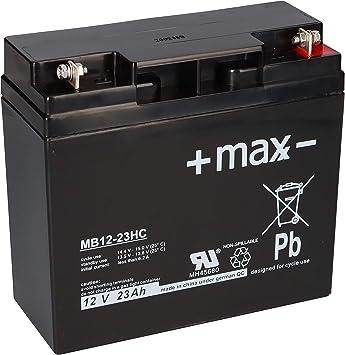 Batería de 23 Ah, 12 V, AGM, batería de plomo, para cortacésped, tractor cortacésped, cortacésped, barco, scooter, 17 Ah, 18 Ah, 19 Ah, 20 Ah, 22 Ah, QB: Amazon.es: Electrónica
