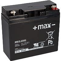 Loodaccu + maxx - 12 V 23 Ah MB12-23HC AGM oplaadbaar cyclibestendig 17 Ah 18 Ah 19 Ah 20 Ah 22 Ah