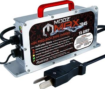 Amazon.com: MODZ Max36 - Cargador para coches de golf de 36 ...