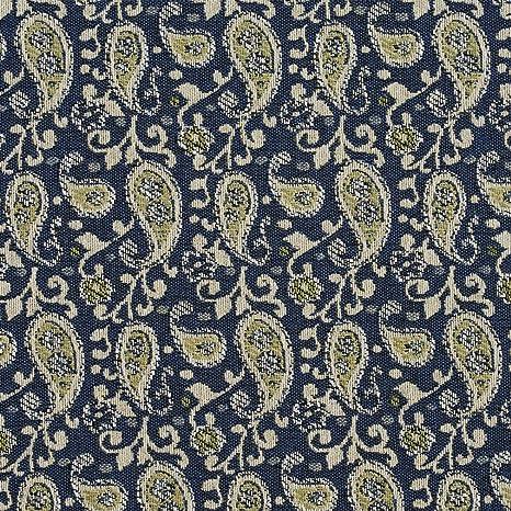 Indigo Azul y crema Scroll Paisley tela de tapicería por el patio: Amazon.es: Juguetes y juegos