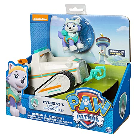 Amazoncom Paw Patrol Everests Rescue Snowmobile Vehicle And