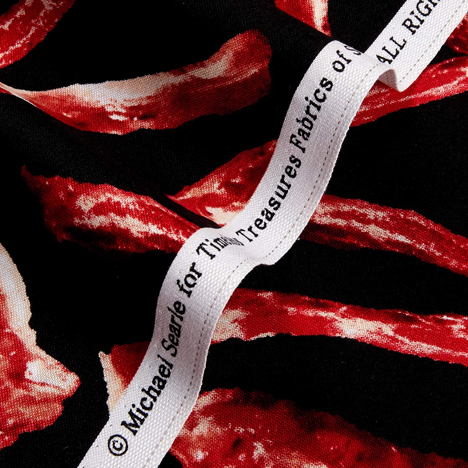 Timeless Treasures Sizzling Bacon Fabric