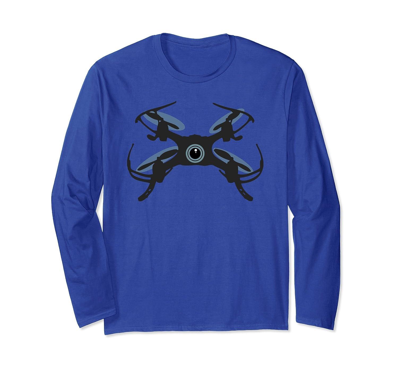 Cute Flying Quadcopter Drone Camera Eye Long Sleeve T-Shirt-ah my shirt one gift