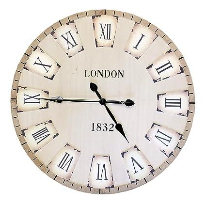 Bid Buy Direct® 80 cm grande decorativo reloj de pared   país Toscano estilo –